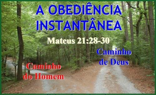 Obediencia - Mateus 21 vs 28-30