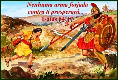 Versículo Bíblico De Proteção: NENHUMA ARMA FORJADA CONTRA TI PROSPERARÁ