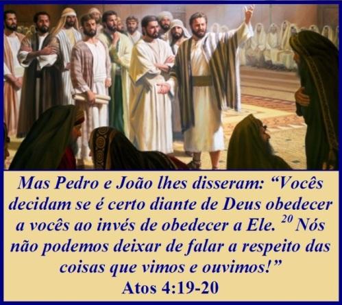 Resultado de imagem para Atos dos Apóstolos 4,13-21