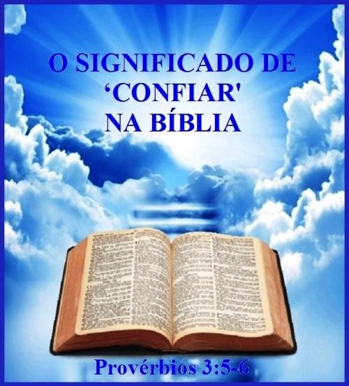Confiar en la Biblia (P) - Proverbios 3 vs 5-6