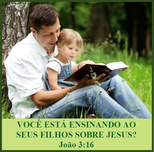 Você está ensinado aos seus filhos sobre Jesus