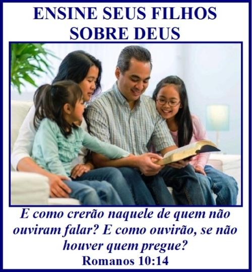 Pais Ensinam seus Filhos-amar e servir, começando com o próprio Senhor!